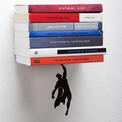 Flying Heroes Bookends