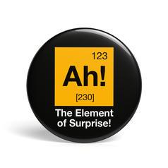 Geek Pin The Element Of Surprise