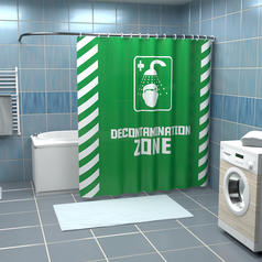 Shower Curtain Decontamination Zone