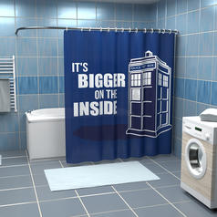 Shower Curtain Police Call Box