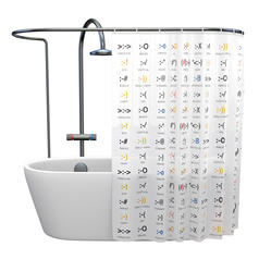 Shower Curtain Emoticons