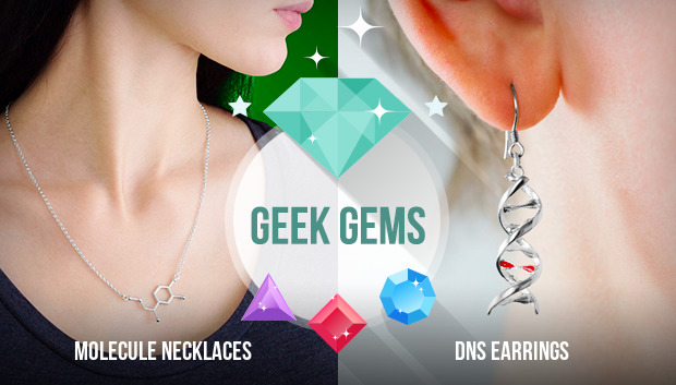 molecule necklaces & dns earrings
